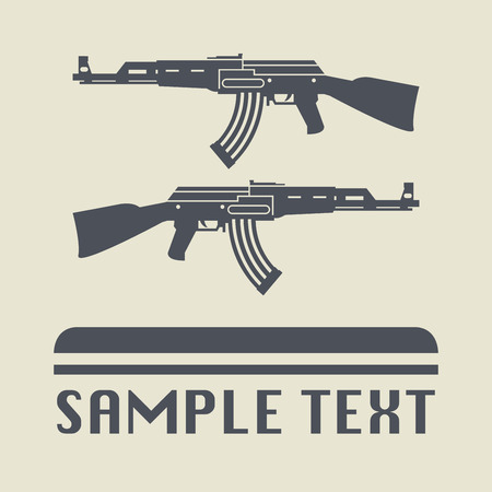 assault: Assault rifle icon or sign, vector illustration Illustration
