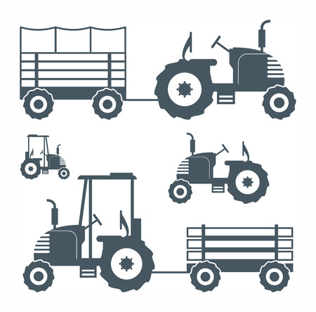 tractor sign: Tractor Illustration