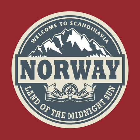 norway: Abstract stamp or emblem with the text Norway, vector illustration