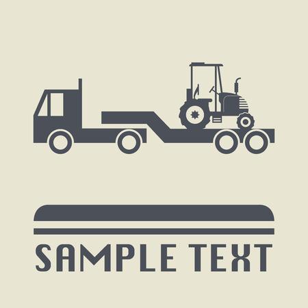 shipper: Transportation icon or sign, vector illustration Illustration