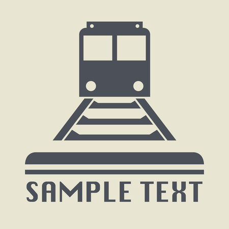 tramway: Tramway or Train icon or sign, vector illustration