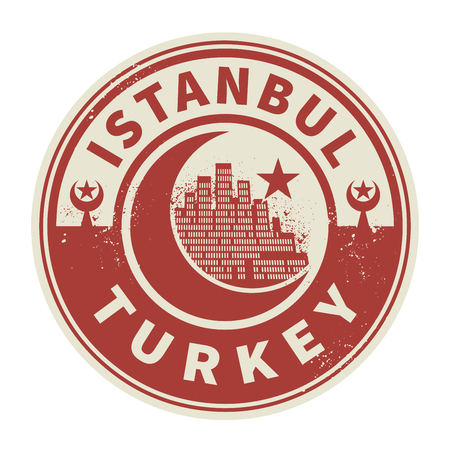 turkey istanbul: Stamp or emblem with text Istanbul, Turkey inside, vector illustration