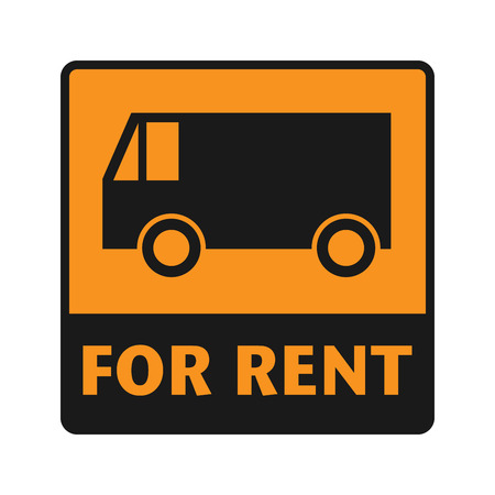 shipper: For Rent icon or sign, vector illustration