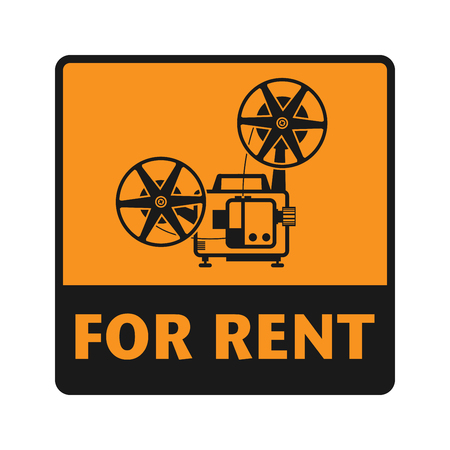 for rent sign: For Rent icon or sign, vector illustration