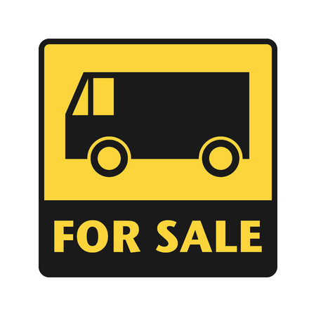 shipper: For Sale icon or sign, vector illustration