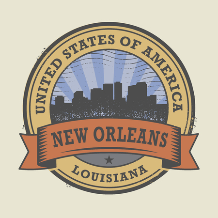 new orleans: Grunge rubber stamp or label with name of New Orleans, Louisiana, vector illustration Illustration