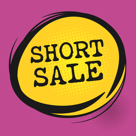 short sale: Short Sale label, vector illustration