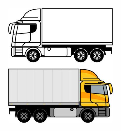 Delivery, Cargo Truck, vector illustration Illustration