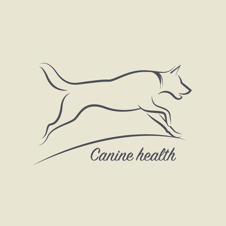 símbolo de la salud del perro, ilustración vectorial