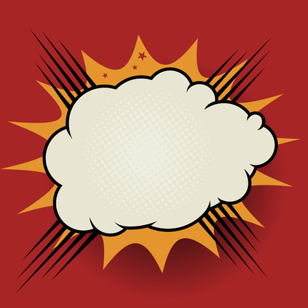 blowup: Comic book explosion, vector illustration Illustration