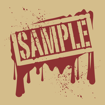 sample: Abstract stamp or label with text Sample, vector illustration