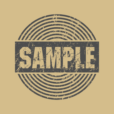 text sample: Abstract grunge stamp with text Sample, vector illustration Illustration