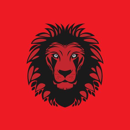 strong symbol: Lion head, vector illustration