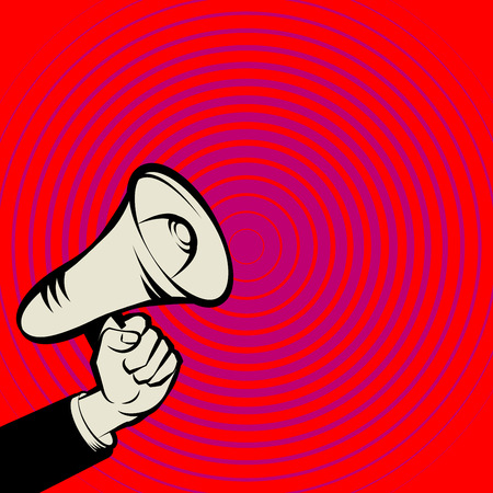loudhailer: Megaphone Hand, business concept, vector illustration Illustration