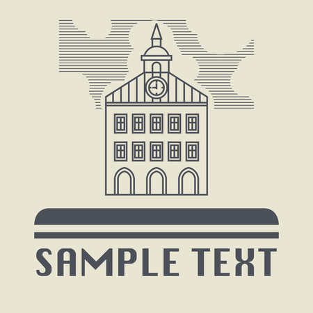 church service: Vintage house icon or sign, vector illustration Illustration