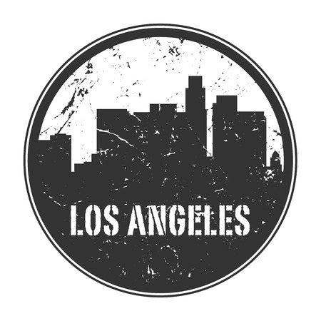 rubber: Grunge rubber stamp or emblem with name of California, Los Angeles, vector illustration Illustration