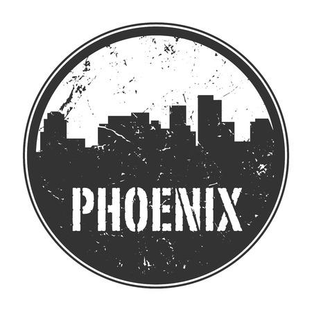 arizona: Grunge rubber stamp or label with name of Phoenix, Arizona, vector illustration