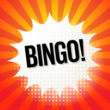 bingo: Comic book explosion with text Bingo, vector illustration