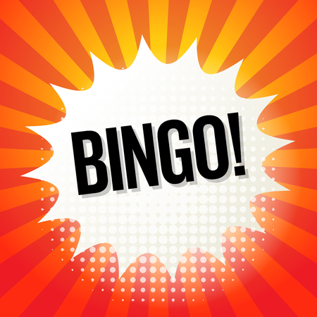 bingo: Explosión del cómic con el texto del bingo, ilustración vectorial Vectores
