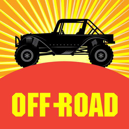 extremesport: Off-road vehicle, vector illustration