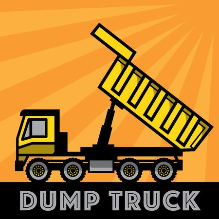 volteo: camión volquete, ilustración vectorial Vectores