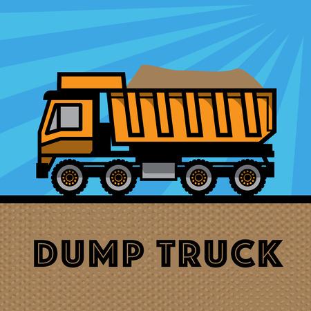 heavy vehicle: Dump truck, vector illustration