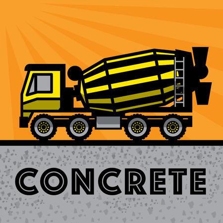 Concrete Mixer Truck, vector illustratie