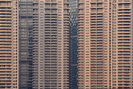 pudong district: Pudong district skyscrapers in Shanghai, China. Pudong is a district of Shanghai, located east of the Huangpu River. Editorial