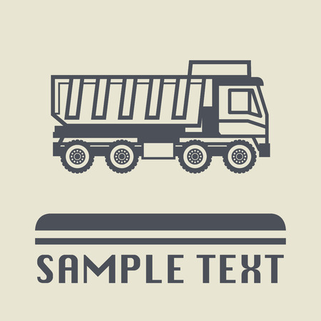 dump truck: Dump truck icon or sign