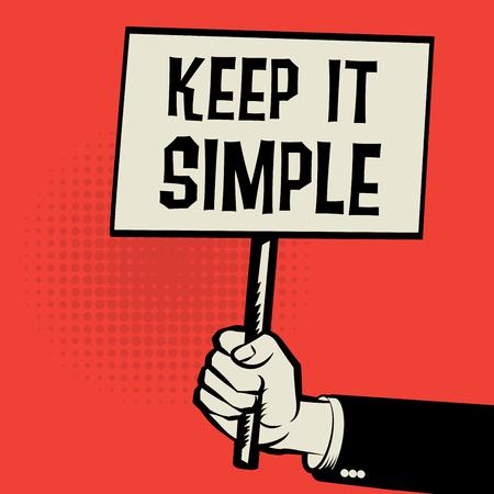 cartel de la celebración de la mano, concepto de negocio con el texto que sea sencillo, ilustración vectorial