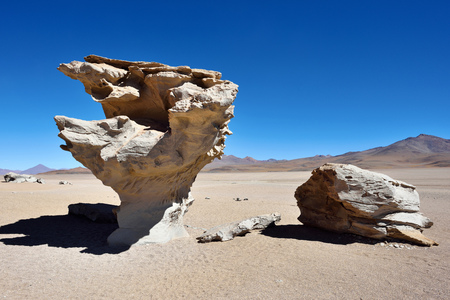 lipez: Arbol de Piedra (Stone tree) is an isolated rock formation in the Eduardo Avaroa Andean Fauna National Reserve of Sur Lipez Province, Bolivia, South America
