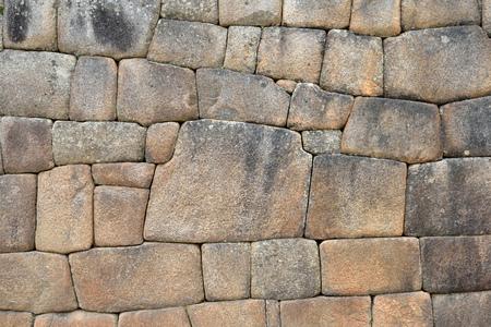 村 - マチュピチュ, ペルー, 南アメリカでインカの壁します。