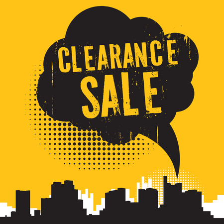 retailing: Comic style speech bubble, business concept with text Clearance Sale, vector illustration