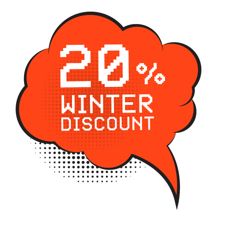 sale sticker: Comic style speech bubble, business concept with text Winter Discount, vector illustration Illustration