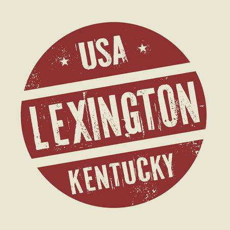 Grunge Jahrgang Runde Stempel mit Text Lexington, Kentucky, Vektor-Illustration Vektorgrafik
