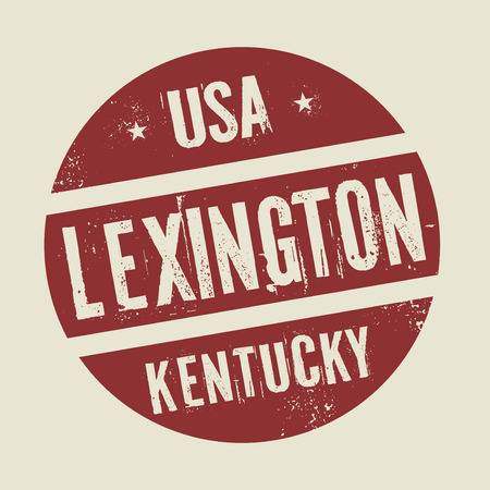 kentucky: Grunge vintage round stamp with text Lexington, Kentucky, vector illustration Illustration