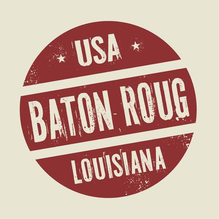 baton rouge: Grunge vintage round stamp with text Baton Rouge, Louisiana, vector illustration Illustration