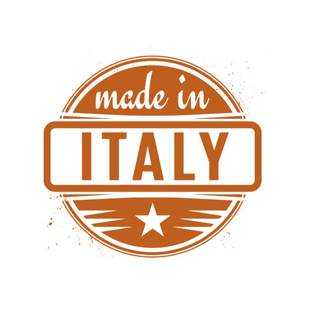 made in italy: Abstract vintage stamp or seal with text Made in Italy, vector illustration