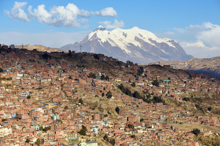 viewpoint: View of La Paz, Bolivia. La Paz is the highest administrative capital in the world
