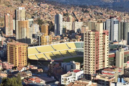 la: View of La Paz, Bolivia. La Paz is the highest administrative capital in the world