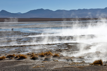 bolivian: Desert and mountainous landscape in Altiplano - the southern part of Bolivia, South America