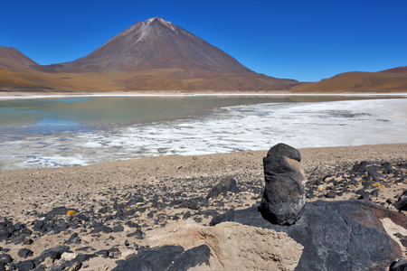 destination scenics: Licancabur is a highly symmetrical stratovolcano on the southernmost part of the border between Chile and Bolivia