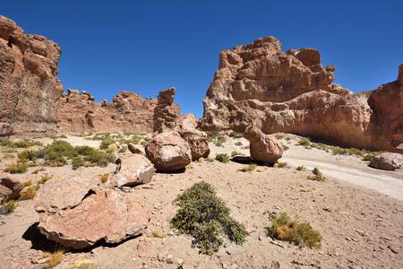 Strange rock formations in Altiplano, Bolivia, South America