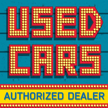 Used cars, Authorized Dealer banner design, vector illustration