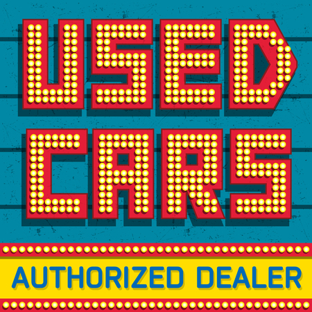 Used cars, Authorized Dealer banner design, vector illustration