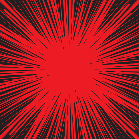 Comic explosion abstract background, vector illustration