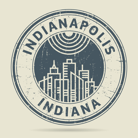 indianapolis: Grunge rubber stamp or label with text Indianapolis, Indiana written inside, vector illustration