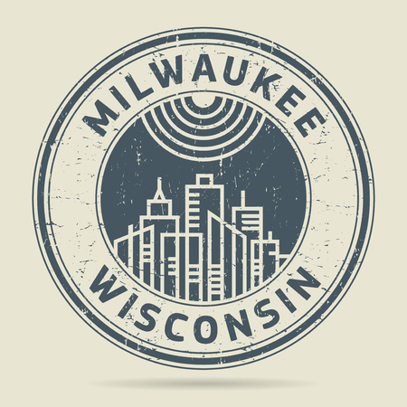 milwaukee: Grunge rubber stamp or label with text Milwaukee, Wisconsin written inside, vector illustration Illustration