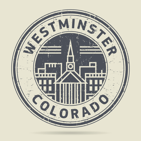 Grunge rubber stamp or label with text Westminster, Colorado written inside, vector illustration