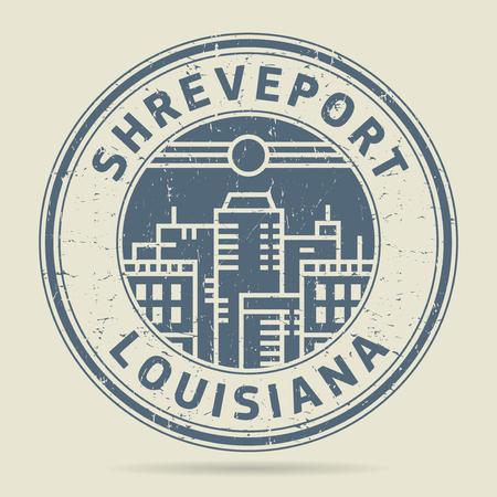 civilisation: Grunge rubber stamp or label with text Shreveport, Louisiana written inside, vector illustration Illustration